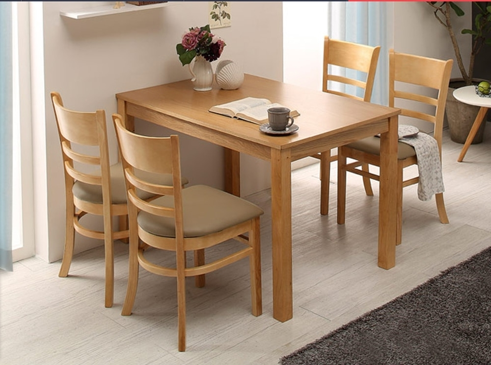 Widely Used Cheap Oak Dining Tables Throughout Cheap Four Tables And One Chair Wood Color Oak Dining Table Dinette (View 19 of 20)