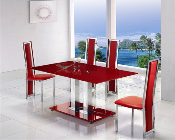 Widely Used Dining Tables: Amusing Red Dining Table Red Dining Table Mats, Red Throughout Red Dining Table Sets (View 15 of 20)
