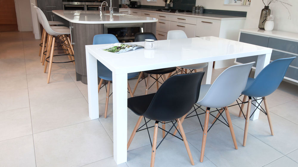 Widely Used Eames Chairs And White Gloss 6 Seater Dining Set (View 19 of 20)