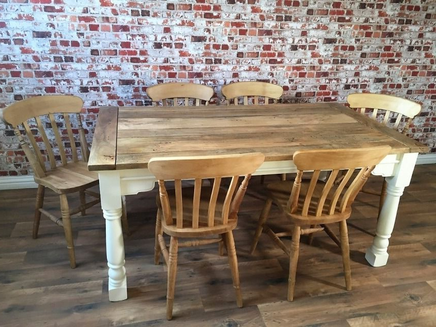Widely Used Extending Dining Table Sets For Up To Twelve Seater Rustic Extendable Dining Table Set With Antique (View 8 of 20)