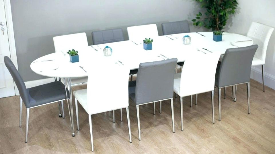 Widely Used Extending Dining Table With 10 Seats Inside Oval Dining Room Table Seats 10 Dining Table Seats Simple Ideas (View 13 of 20)