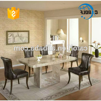 Widely Used Foshan Luxury Marble Furniture Stone Dining Table Set With 8 Chairs Within Stone Dining Tables (View 20 of 20)