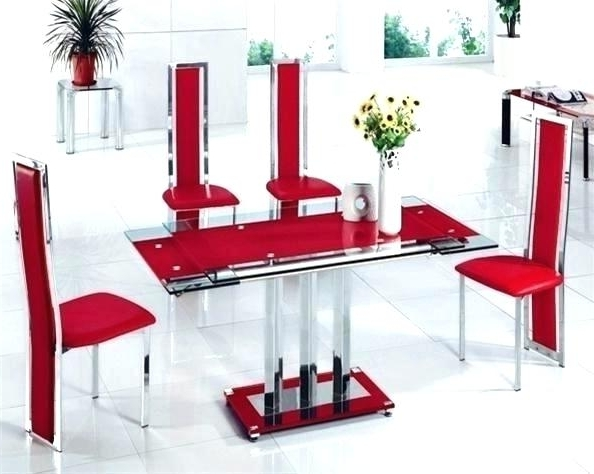 Widely Used Glass Dining Table Sets 6 Glass Dining Table And 6 Chairs Furniture Regarding Black Glass Dining Tables 6 Chairs (View 18 of 20)