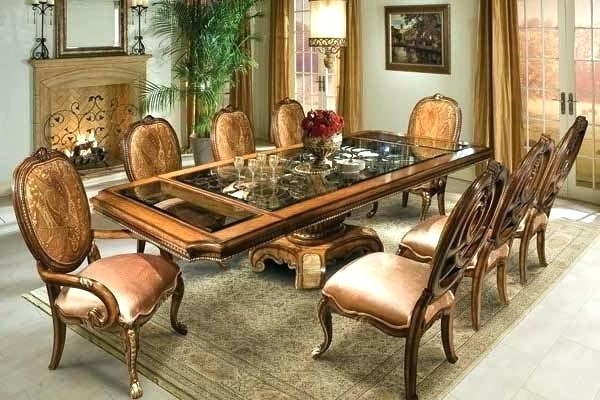 Widely Used Glass Dining Table With Wood Base – Modern Computer Desk In Wooden Glass Dining Tables (View 16 of 20)