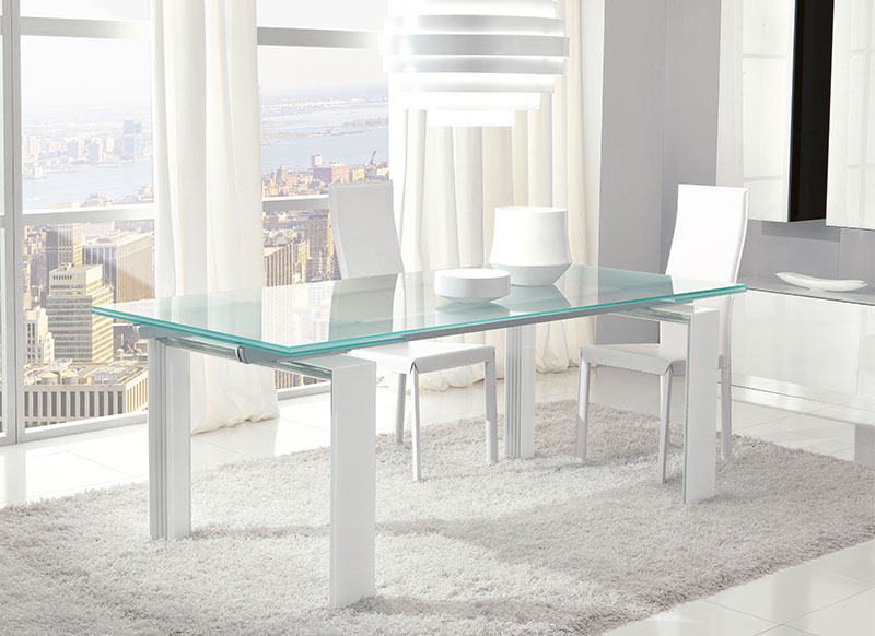 Widely Used Glass Extending Dining Tables For Unico Contemporary Glass Step Extending Dining Table Choice Of Colour (View 20 of 20)