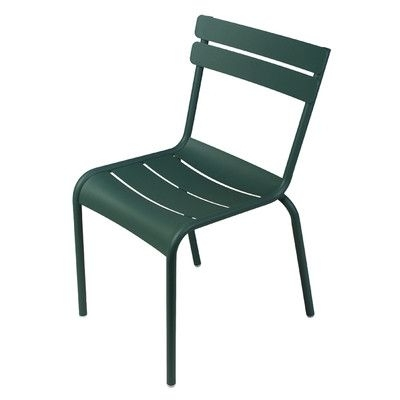 Widely Used Green Cedar Dining Chairs Within Fermob Luxembourg Stacking Dining Side Chair Finish: Cedar Green (View 9 of 20)