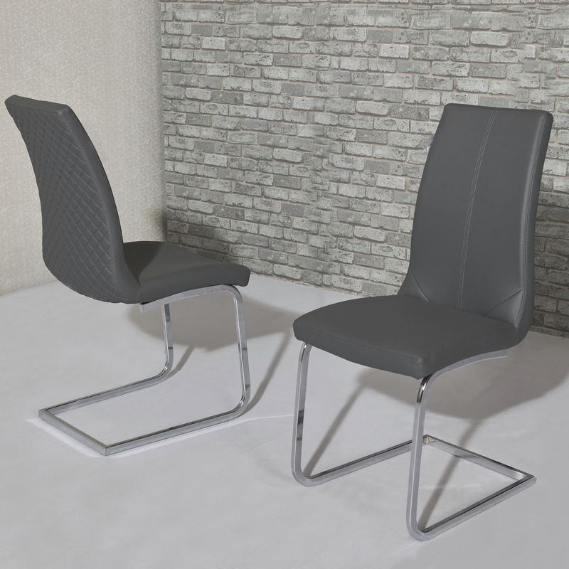 Widely Used Grey Dining Chairs With Kelcy Grey Dining Chair (View 13 of 20)