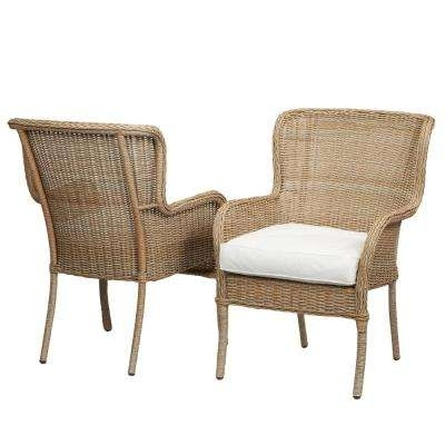 Widely Used Hampton Bay – Outdoor Dining Chairs – Patio Chairs – The Home Depot Inside Armless Oatmeal Dining Chairs (View 4 of 20)