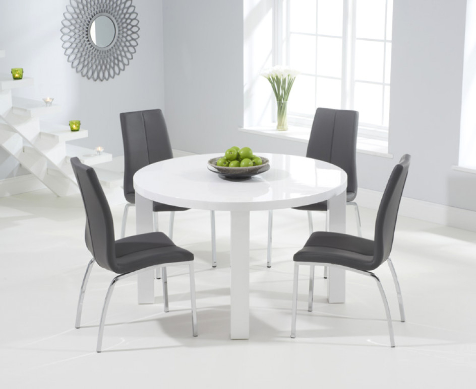 Widely Used High Gloss Dining Tables And Chairs With (View 9 of 20)