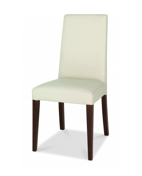 Widely Used Ivory Leather Dining Chairs Throughout Bentley Designs – Akita Taper Back Ivory Leather Dining Chair (Gallery 4 of 20)