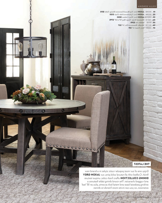 Widely Used Jaxon Round Extension Dining Tables Inside Living Spaces – Spring 2018 – Jaxon Grey Round Extension Dining Table (View 2 of 20)