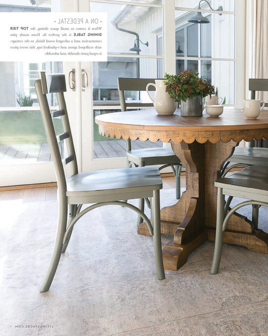Widely Used Living Spaces – Spring 2018 – Magnolia Home Top Tier Round Dining Regarding Magnolia Home Top Tier Round Dining Tables (View 20 of 20)