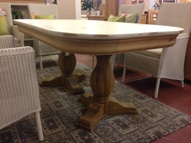 Widely Used Lyon Shabby Chic Extending Dining Table – Second For Shabby Chic Extendable Dining Tables (View 9 of 20)