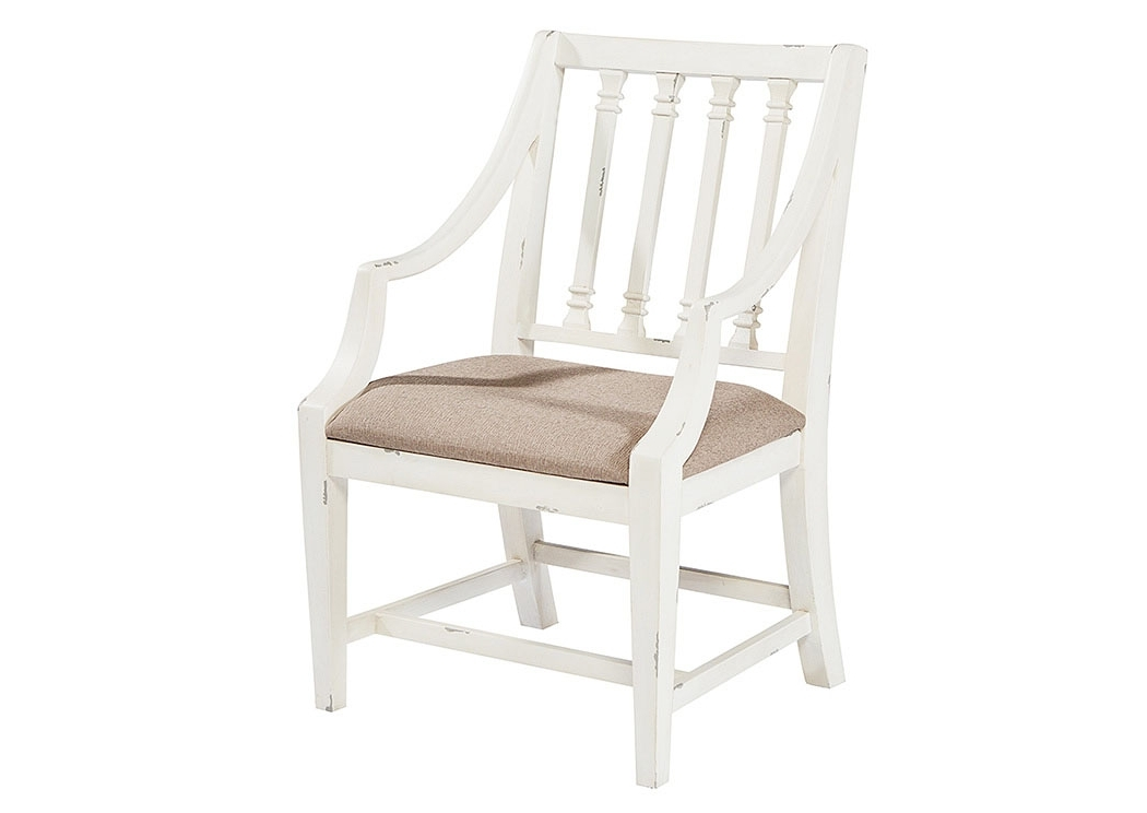 Widely Used Magnolia Home Revival Side Chairs Inside Long Furniture – Rainbow City, Al Revival Arm Chair, Jo's White Finish (View 8 of 20)
