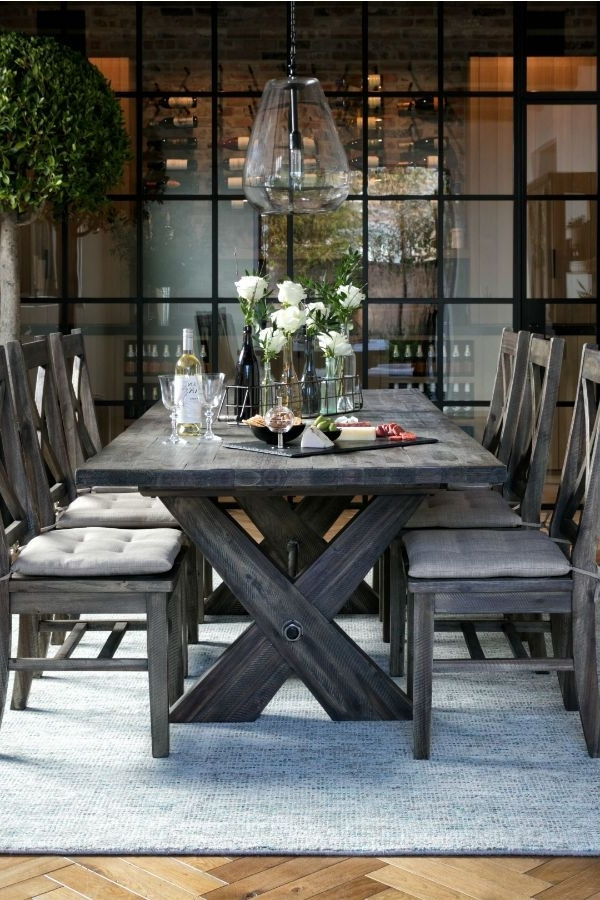Widely Used Mallard Side Chairs With Cushion Within Rustic Extension Dining Table & Chairs (View 13 of 20)