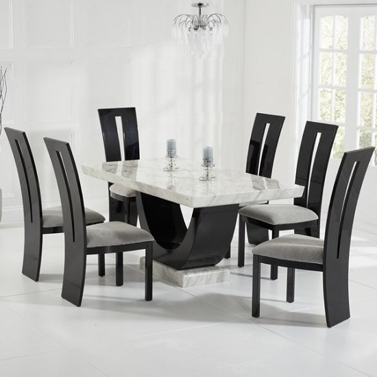 Widely Used Marble Dining Table And Chairs Uk (Gallery 6 of 20)