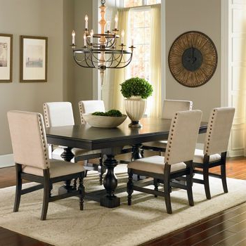 Widely Used Market 7 Piece Dining Sets With Host And Side Chairs Regarding Costco: Carmel 7 Piece Dining Set (View 12 of 20)