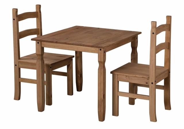 Widely Used Mercers Furniture Corona Rio Dining Table And 2 Chairs – Pine (View 19 of 20)