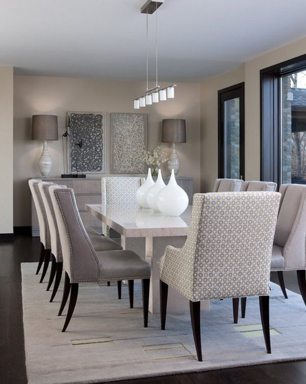 Widely Used Modern Dining Room Furniture With Regard To 15 Pictures Of Dining Rooms (View 3 of 20)