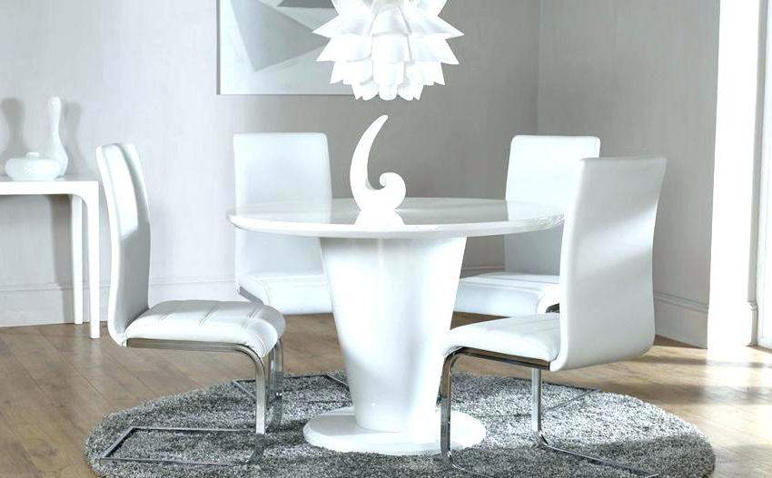 Widely Used Modern White Round Dining Table – Quadcapture (View 19 of 20)
