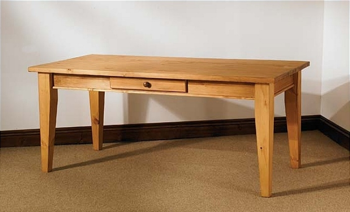 Widely Used Mottisfont Waxed Pine 6Ft X 3Ft Dining Table Pertaining To 3Ft Dining Tables (View 11 of 20)