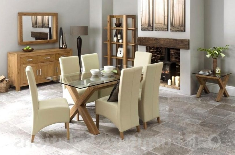 Widely Used Oak And Glass Dining Tables And Chairs With Lush Oak Glass Dining Tables Ideas Ivory Dining Table And Chairs On (Gallery 4 of 20)