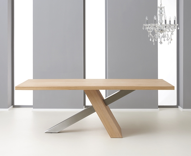 Widely Used Oak Dining Tables With Regard To Buy Mark Harris Montana Oak And Metal Rectangular Dining Table (View 20 of 20)
