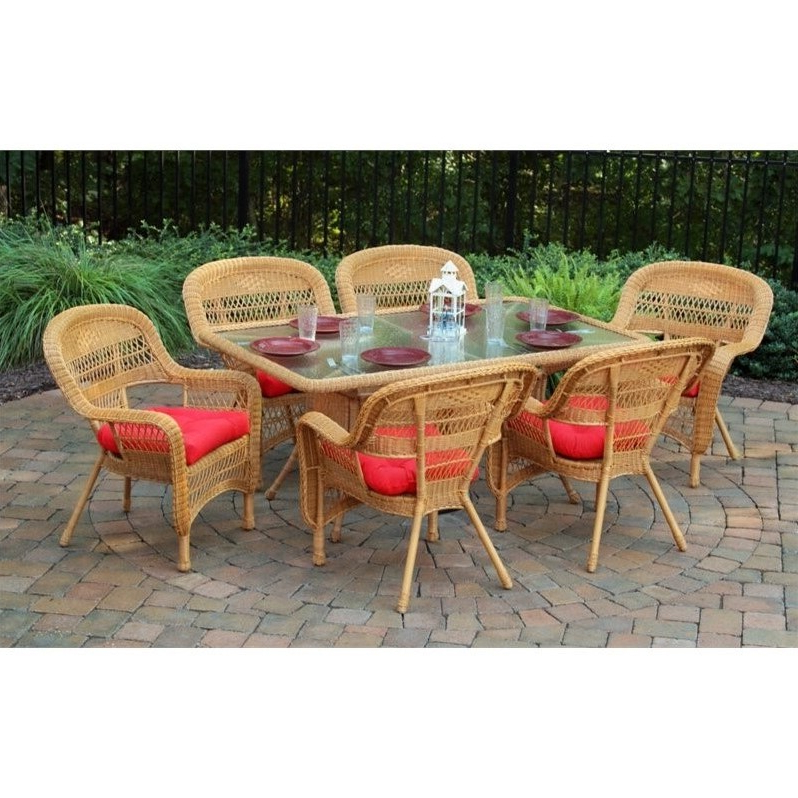 Widely Used Outdoor Tortuga Dining Tables In Tortuga Portside 7 Piece Patio Dining Set – Psd 66 X (View 20 of 20)