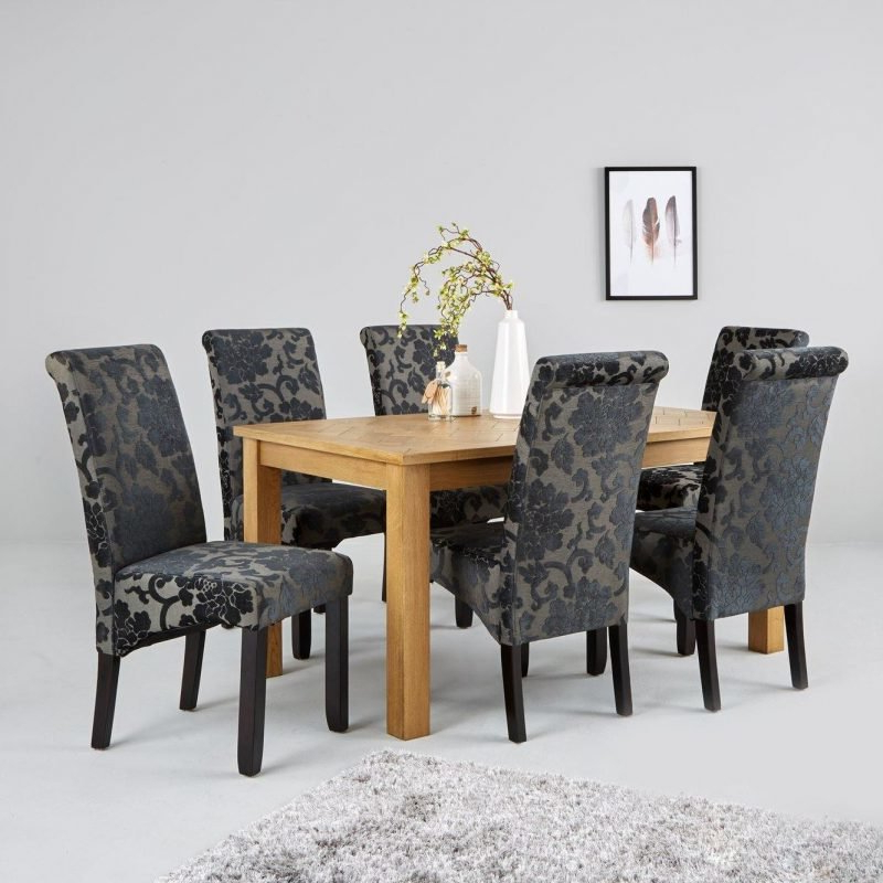 Widely Used Parquet 150 Cm Solid Oak And Oak Veneer Dining Table – The Furniture Co Throughout Parquet 6 Piece Dining Sets (View 14 of 20)