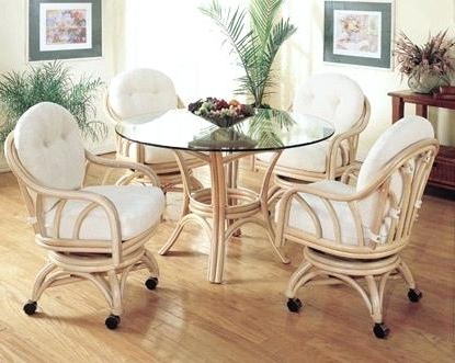Widely Used Rattan Dining Tables And Chairs Within Rattan Dining Room Table And Chairs Wicker Furniture Summit Design (View 20 of 20)