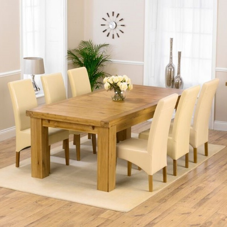 Widely Used Roma Dining Tables And Chairs Sets Within Buy Laurent Xl Dining Set From Oak Furniture House (View 5 of 20)