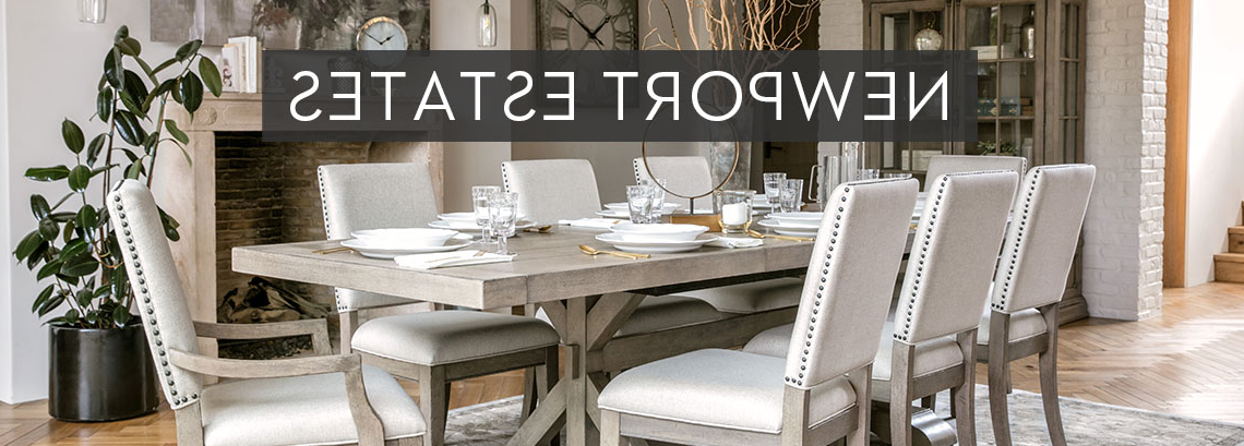 Widely Used Rustic Affordable Traditional Furniture Newport Estates Intended For Norwood 9 Piece Rectangular Extension Dining Sets With Uph Side Chairs (View 3 of 20)