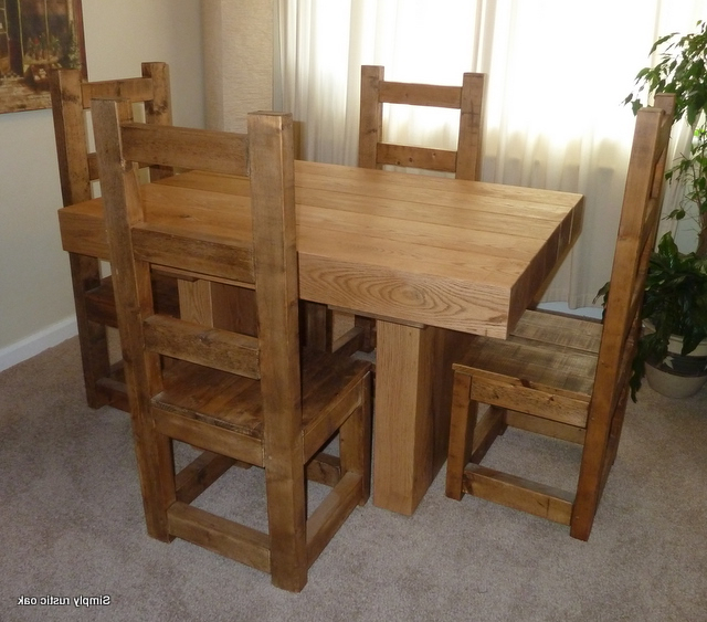 Widely Used Rustic Oak Dining Tables Inside Rustic Oak Beam Kydd Dining Table – Simply Rustic Oak (Gallery 20 of 20)