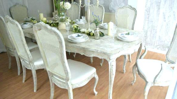 Widely Used Shabby Chic Dining Room Sets Chairs Shabby Chic Dining Room Ch Intended For Shabby Dining Tables And Chairs (View 20 of 20)