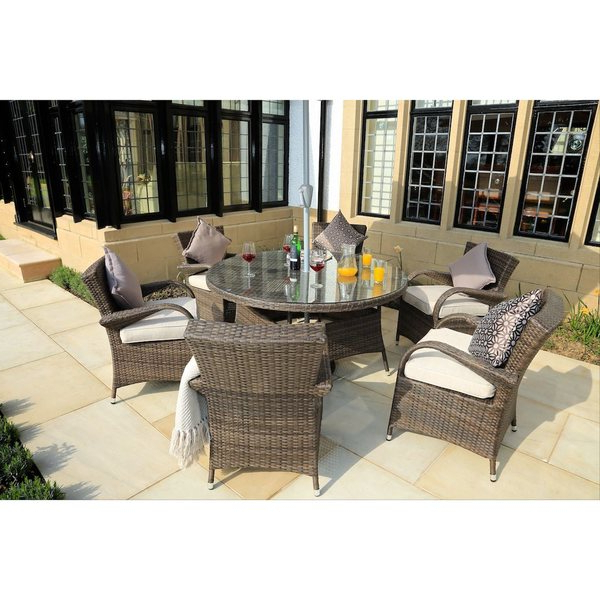 Widely Used Shop Direct Wicker Eton Chair 7 Piece Rattan Dining Set – On Sale Throughout Valencia 72 Inch 7 Piece Dining Sets (View 9 of 20)