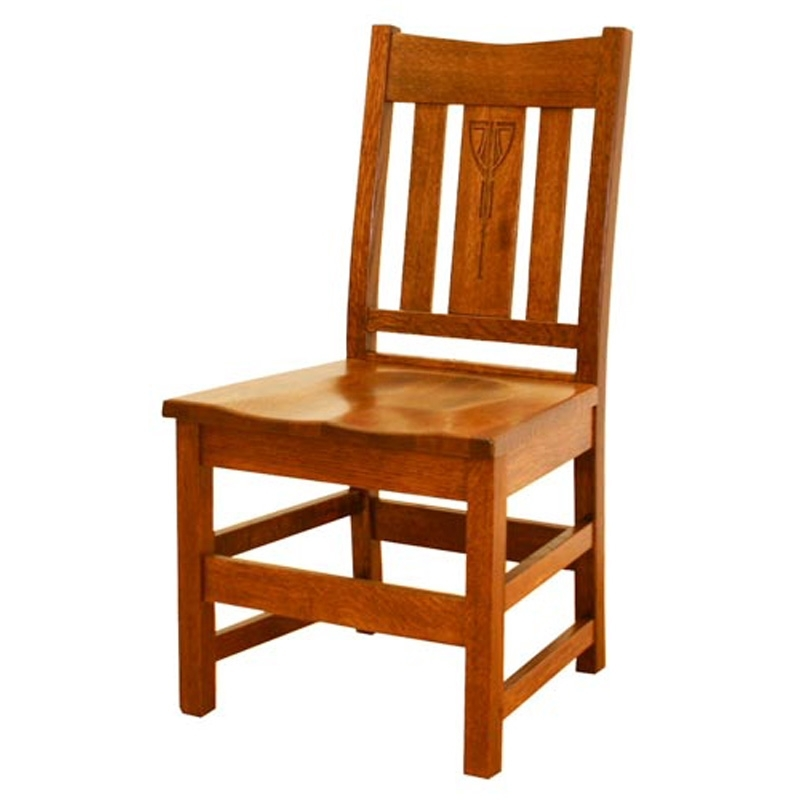 Widely Used Slat Back Side Chairs Ac Sc1 Aurora Crofter Tree Crowns Craftsman Regarding Craftsman Side Chairs (View 20 of 20)