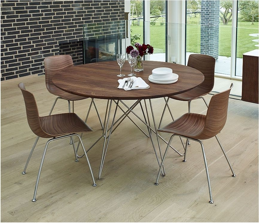 Widely Used Spectacular Danish Modern Round Table Dining Furniture Wharfside Intended For Circular Dining Tables (View 20 of 20)