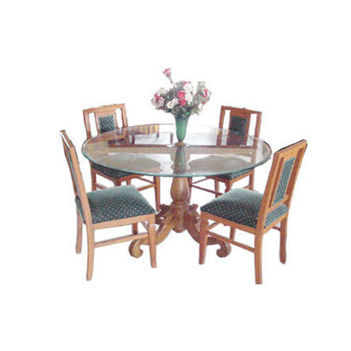 Widely Used Usha Furniture Brown & Blue Imperial Dining Table With Four Chairs Intended For Imperial Dining Tables (View 11 of 20)