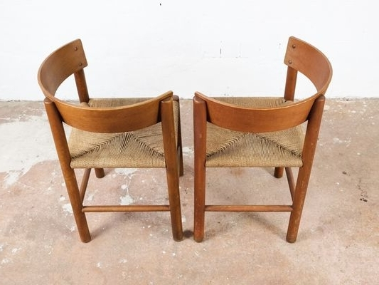 Widely Used Vintage Chairsmogens Lassen For Fritz Hansen, Set Of 2 For Sale In Lassen Side Chairs (View 14 of 20)
