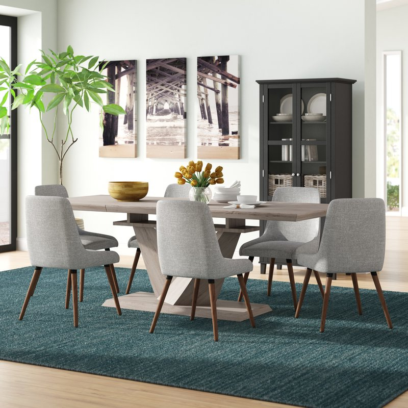 Widely Used Walden 7 Piece Extension Dining Sets With Brayden Studio Simmers 7 Piece Dining Set (View 12 of 20)