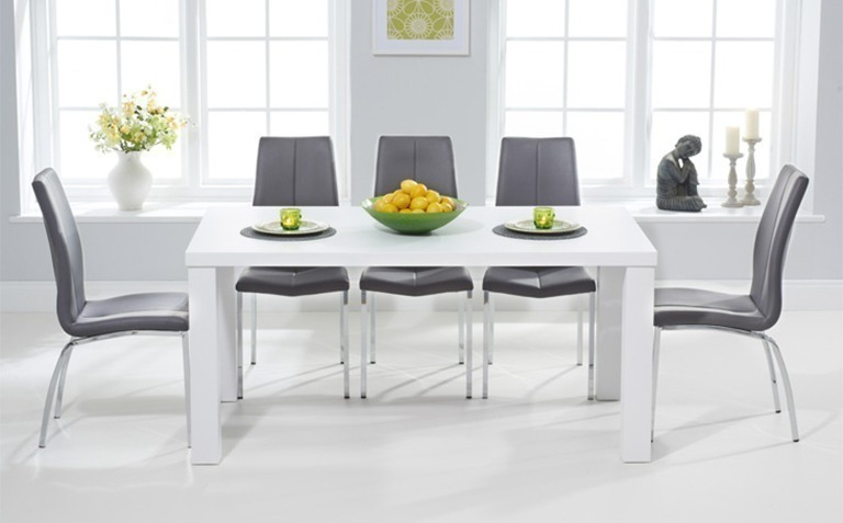 Widely Used White Dining Suites With Regard To High Gloss Dining Table Sets (View 6 of 20)