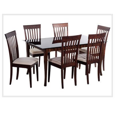 Widely Used Wood Glass Dining Tables With Dining Room Furniture – Wooden Dinning Set4 Chairmade Of Sisam Wood (View 4 of 20)