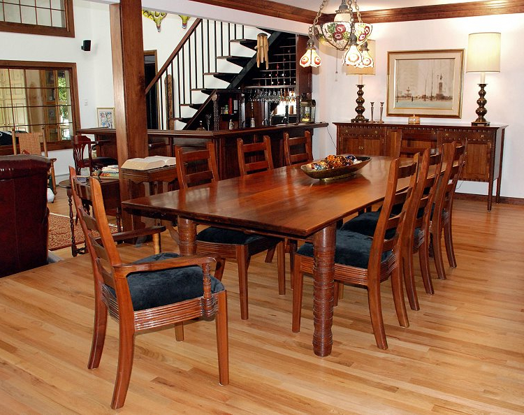 William Robbins Furniture Maker In Popular Walnut Dining Tables And Chairs (View 12 of 20)