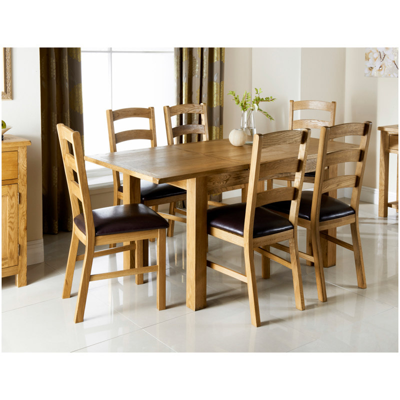Wiltshire Oak Dining Set 7pc (View 16 of 20)