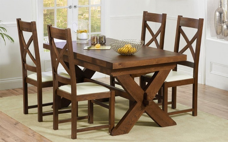 Wood Dining Tables And 6 Chairs Intended For Well Liked Dark Wood Dining Table Sets (View 11 of 20)