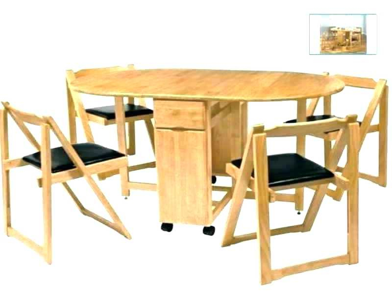 Wood Folding Dining Tables Inside Favorite Extendable Folding Dining Table Set With 4 Chairs Of Seater – Tigerbytes (View 19 of 20)
