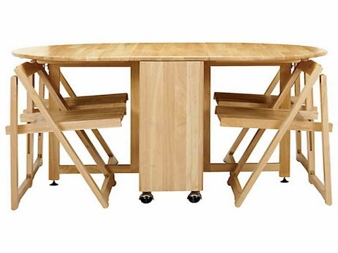 Wood Folding Dining Tables Pertaining To Favorite Cool Collapsible Dining Table – Youtube (View 5 of 20)