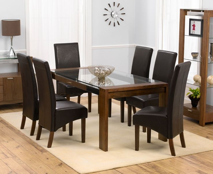 Wood Glass Dining Tables Inside Popular See More Ideas About Latest Wooden Dining Table And 6 Chairs Glass (View 17 of 20)