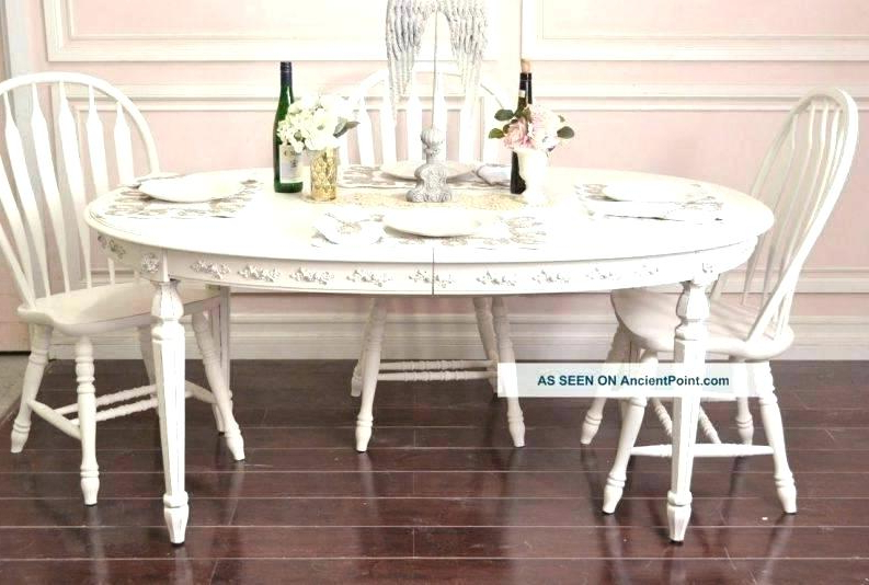 Wood Table White Legs Dining Table Makeover Before And After Dark Throughout Popular Dining Tables With White Legs And Wooden Top (View 18 of 20)