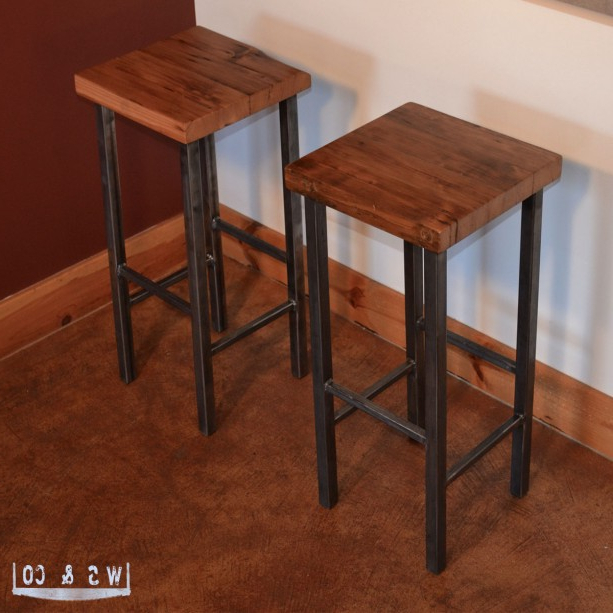 Wooden Bar Table With Metal Legs – Photos Table And Pillow Intended For Favorite Washed Old Oak & Waxed Black Legs Bar Tables (View 9 of 20)